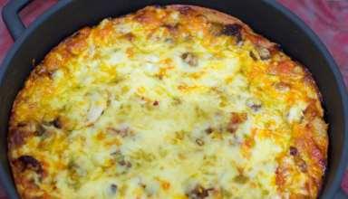 طرز تهیه املت با پنیر پیتزا