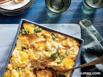 پخت گراتن مرغ و سبزیجات