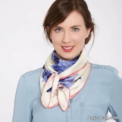 جدیدترین روش بستن دستمال گردن زنانه