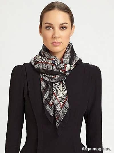 بستن دستمال گردن زنانه با روشهای منحصر به فرد