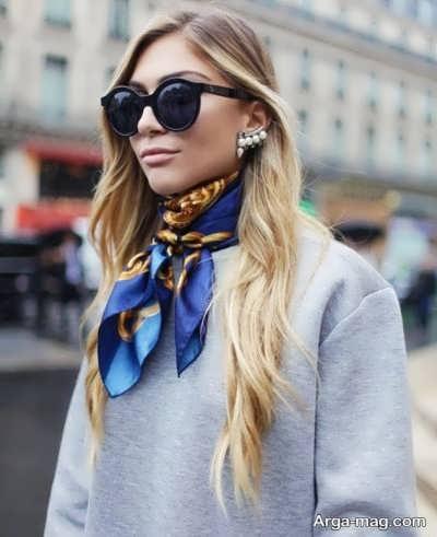 نحوه عالی بستن دستمال گردن زنانه