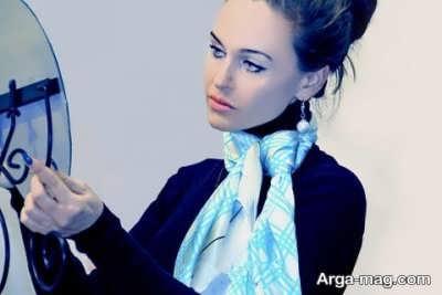 نحوه تماشایی بستن دستمال گردن زنانه