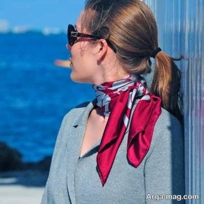 جذاب ترین روش بستن دستمال گردن زنانه