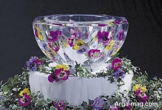 تزیین زیبا یخ کاسه ای یخچال عروس