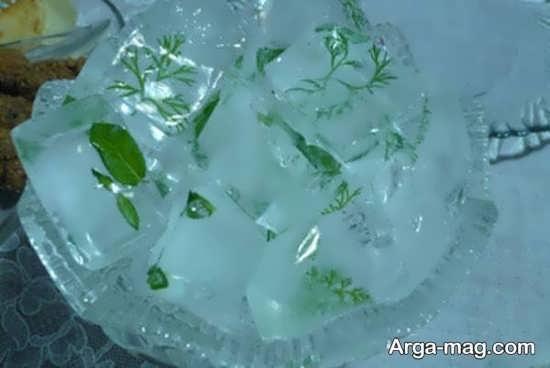 تزیین زیبا قالب های یخ یخچال عروس