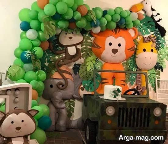 مدل تزئینات تولد حیوانات جنگل