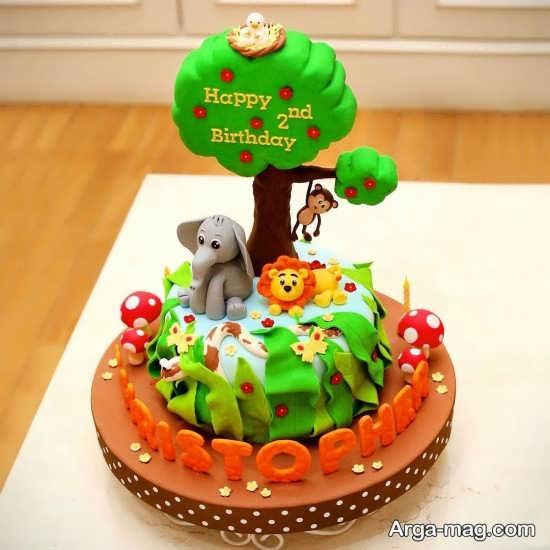 تزئینات تولد زیبا از حیوانات جنگل