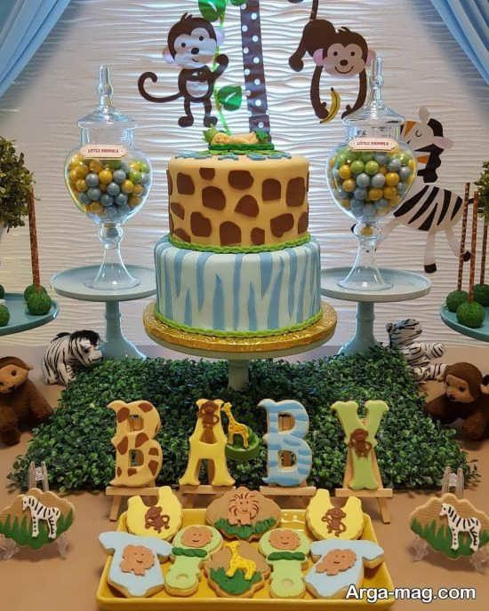 تصاویری از تزئینات تولد حیوانات جنگل