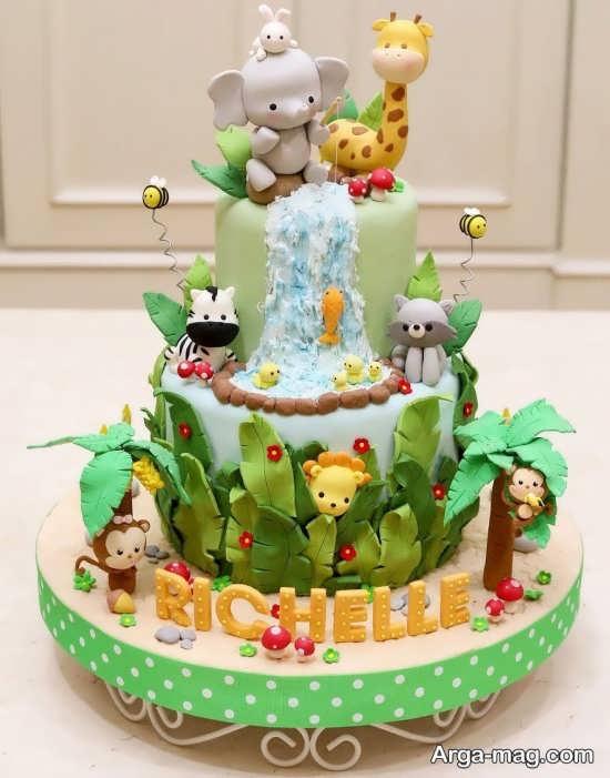 تزئینات تولد جذاب از حیوانات جنگل