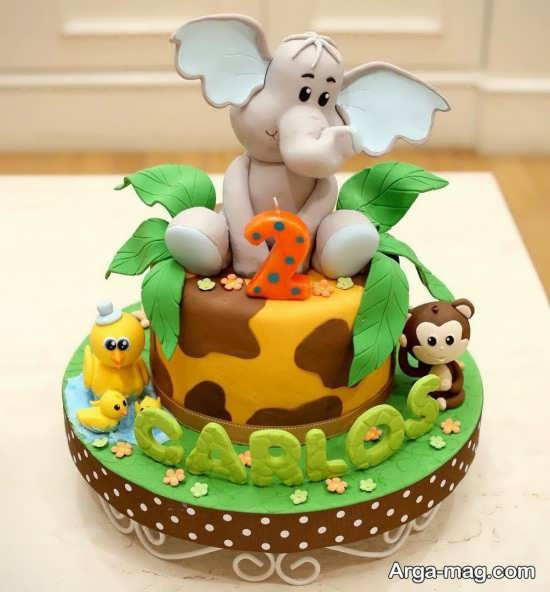 تزئینات تولد شیک از حیوانات جنگل