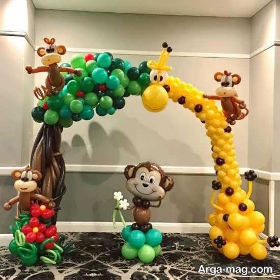 انواع تزئینات تولد حیوانات جنگل