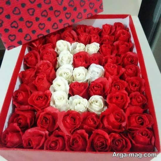 طراحی جعبه گل با حروف