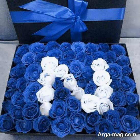 تزئین جعبه گل رز با اسم