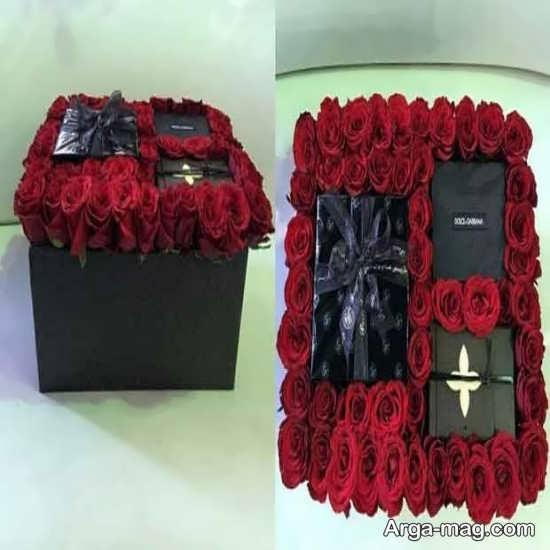 تزئین جعبه کادویی با رز