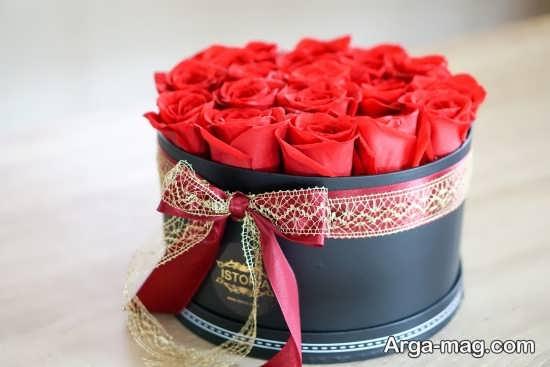 تزئین دسته گل جعبه ای