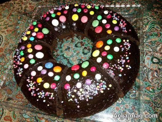 ایده تزئین کیک بدون خامه