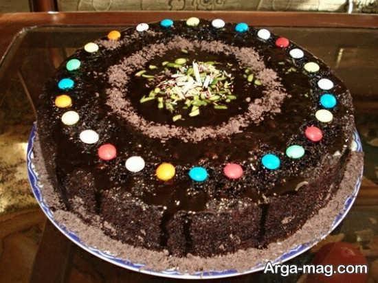 تزئین کیک با روکش شکلات