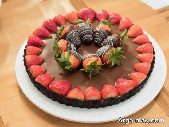 تزئین کیک با کرم شکلات