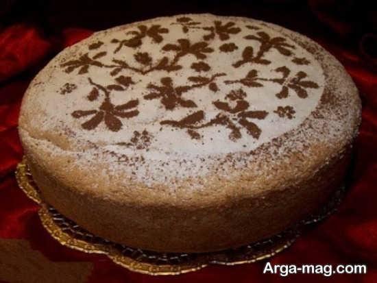تزئین کیک شیفونی
