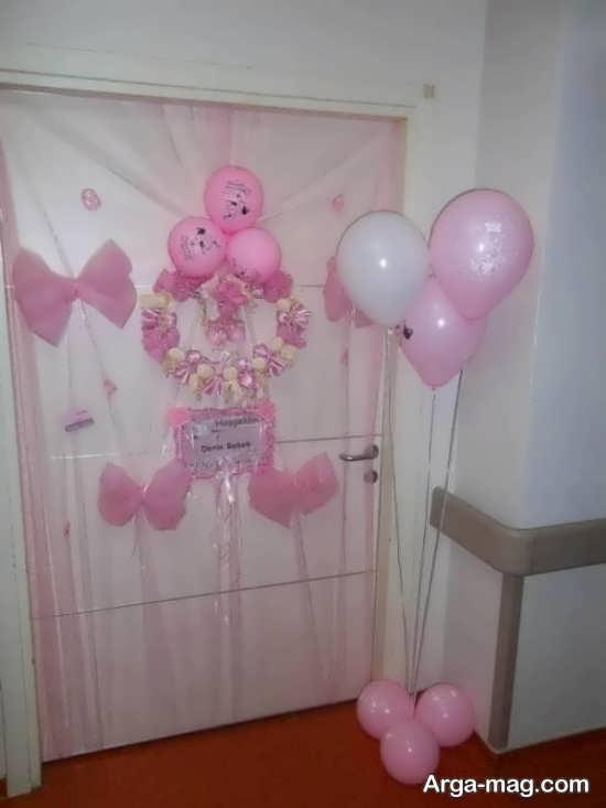 طراحی درب اتاق نوزاد دختر