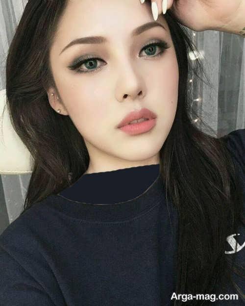 مدل آرایش صورت کره ای زنانه