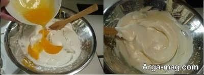 اضافه کردن زرده به سفیده تخم مرغ