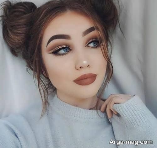 مدل میکاپ دخترانه لایت و زیبا