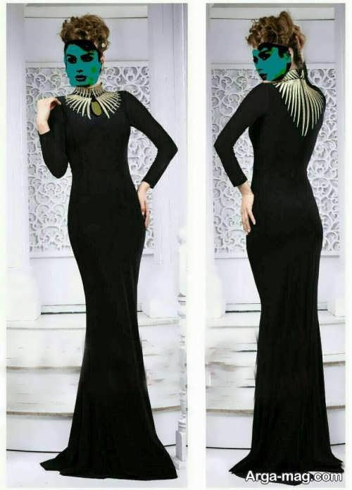مدل لباس ماکسی مشکی و زیبا