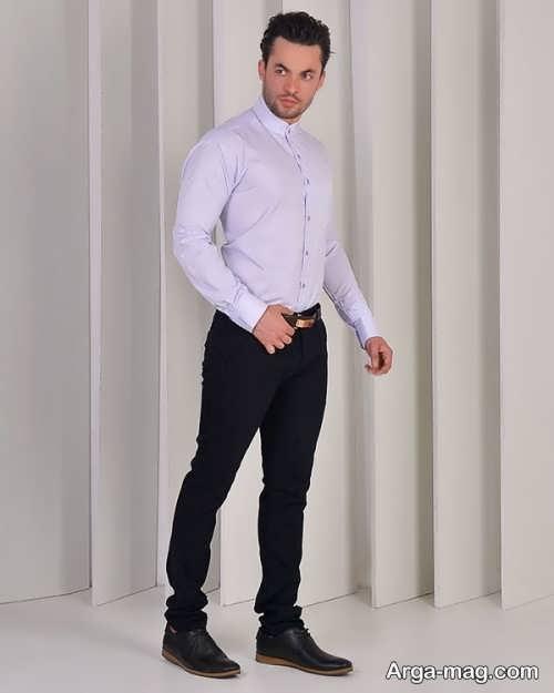 مدل پیراهن سفید یقه دیپلمات
