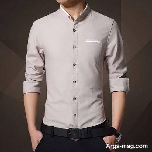 مدل پیراهن پسرانه یقه دیپلمات
