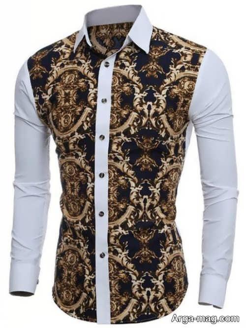 مدل پیراهن مردانه اسپرت طرح دار