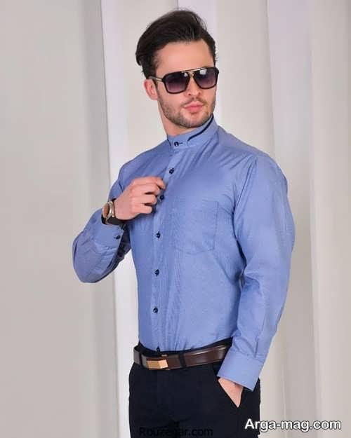 مدل پیراهن مردانه یقه دیپلمات شیک و ساده