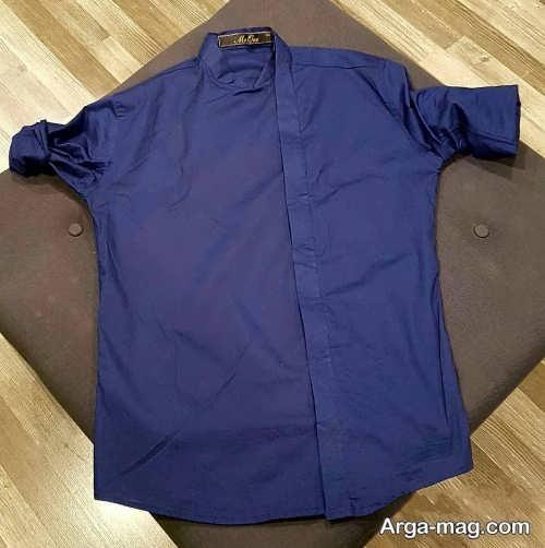 مدل پیراهن شیک و ساده یقه دیپلمات