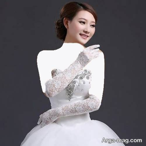 مدل دستکش زیبا و شیک برای عروس
