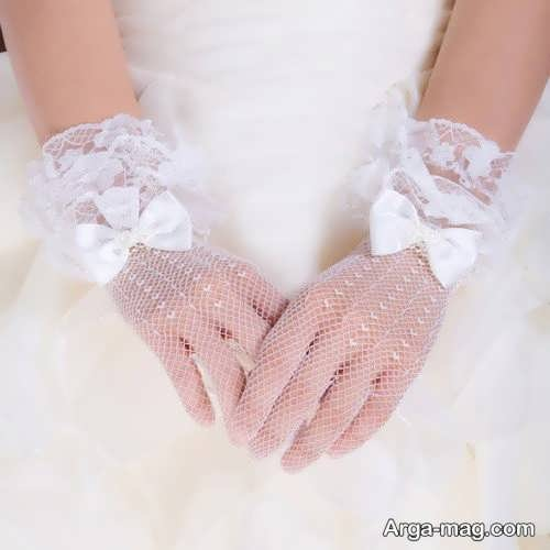 مدل دستکش زیبا و جدید برای عروس