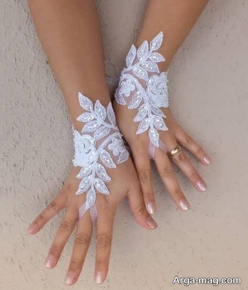 مدل دستکش بدون انگشت برای عروس