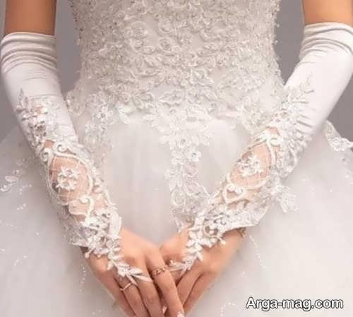 مدل دستکش شیک و زیبا برای عروس