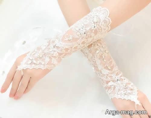 مدل دستکش بدون انگشت عروس