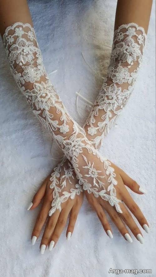 مدل دستکش شیک عروس