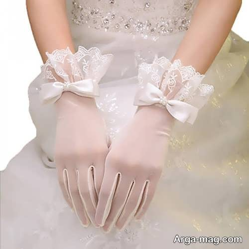 مدل دستکش شیک و ساق کوتاه عروس