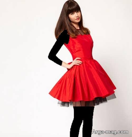 مدل لباس مجلسی قرمز تین ایجر