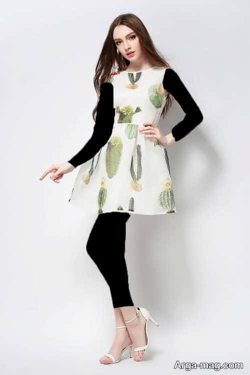 مدل لباس مجلسی طرح دار تین ایجر