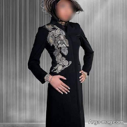 مدل مانتو مجلسی مشکی 2018