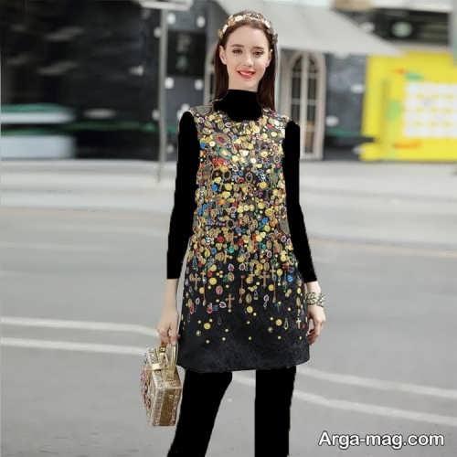 مدل لباس مجلسی طرح دار و شیک دخترانه