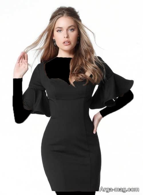 مدل لباس مجلسی کوتاه و مشکی دخترانه