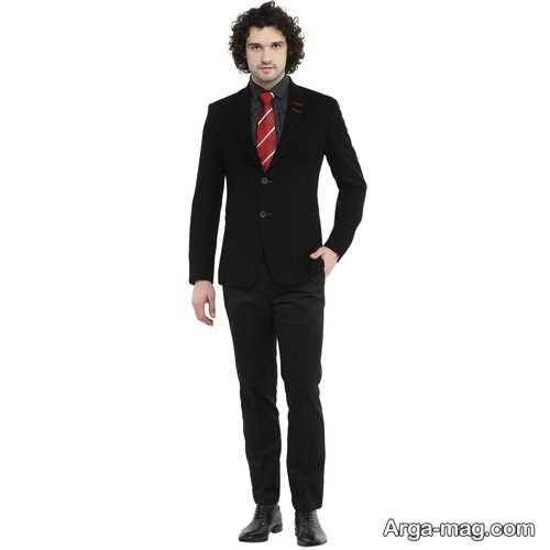 مدل کت و شلوار ساده و مشکی مردانه