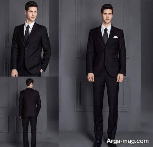 مدل کت و شلوار مشکی و شیک مردانه
