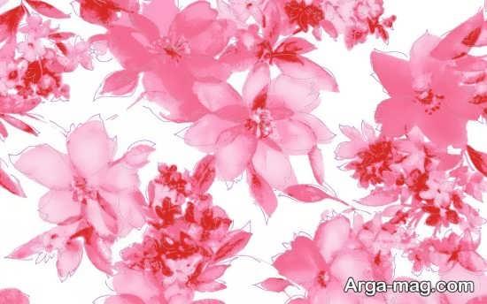 کاغذ دیواری زیبا با طرح گل