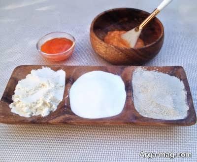 ترکیب خرمالو و غلات برای تهیه ماسک