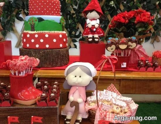 تزیینات کودکانه تولد با طرح شنل قرمزی